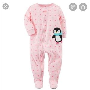 Carter's Pink Penguin Sleeper